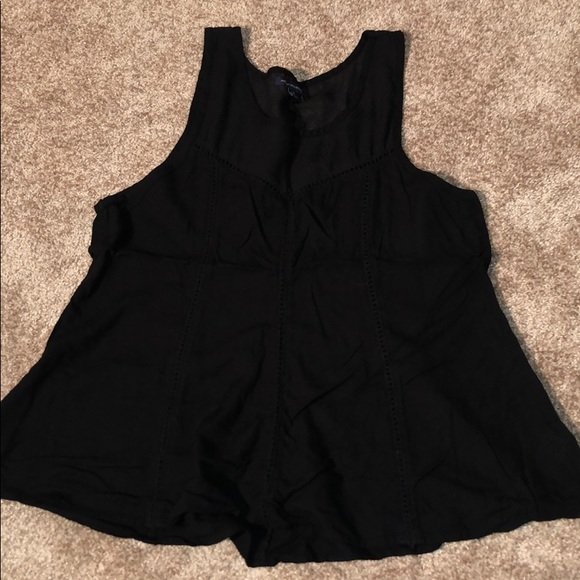 American Eagle Outfitters Tops - Black eyelet tank top